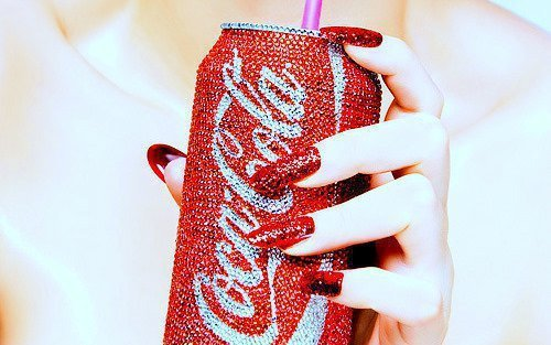 :), beautiful, coca cola, girl