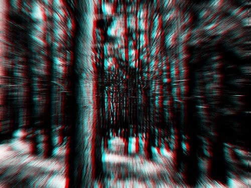 3d, black, deep, forest