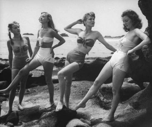 40s, black and white, girls, vintage