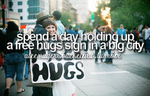 a teenagers bucket list, big, boy, bucket, bucket list, city, cute, free, free hugs, girl, hugs, list