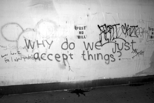 accept, art, b&w, drawing, graffiti, love, quote, street, text, vintage, word