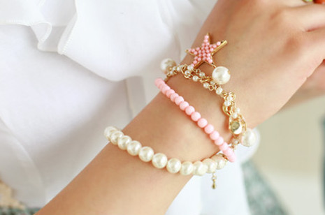 accessories, black and white, bracelet, cute