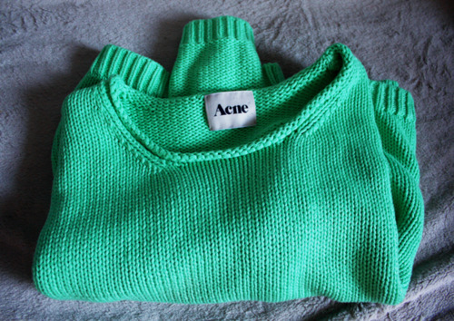 acne, amazing, beautiful, closet, clothes, fashion, gorgeous, green, neon, style, sweater