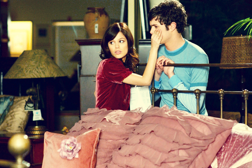 adam brody, art, beautiful, couple, cute, cute couple, fashion, hair, movie stills, photography, pretty, rachel bilson, seth