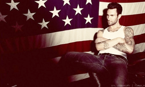 adam levine, hot, tattoos, america