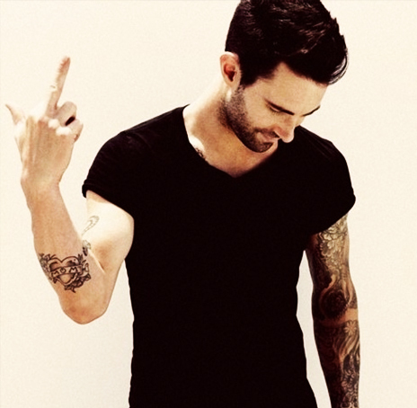 adam levine, hot, tattoos, attitude