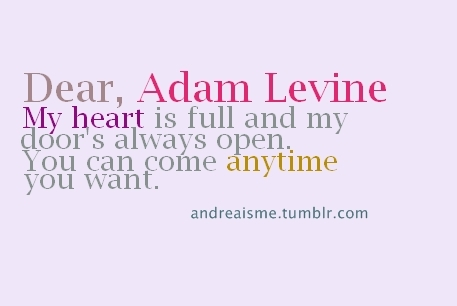 adam levine, hot, typhography, adam i love you