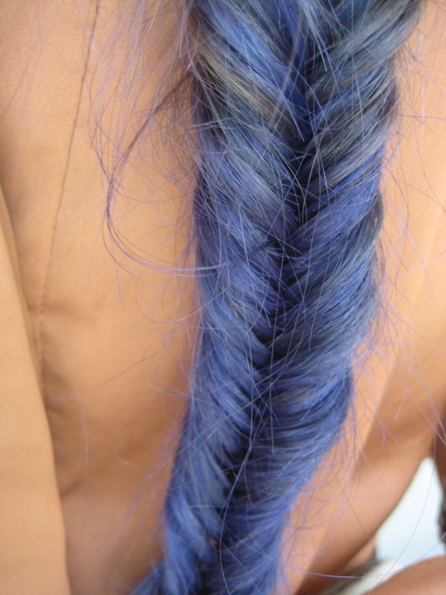add more tags, apricot, blue, blue hair, braid, hair