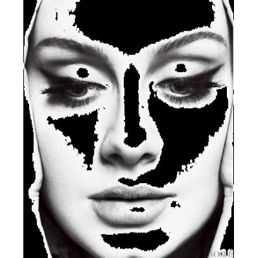 adele, black and white, make up, vogue