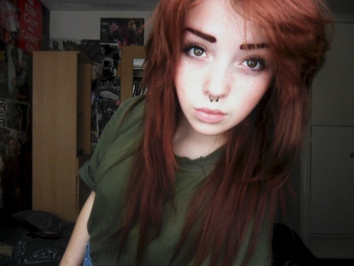 adorable, alternative, amazing, aww, brunette, girl, gorgeous, hair, hair style, model, piercing, pretty, septum, style