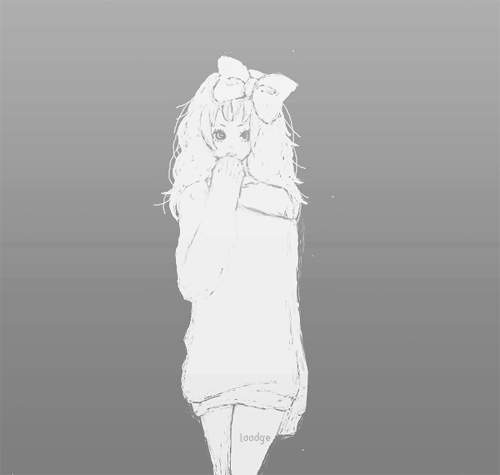 adorable, amazing, anime, art, aw, b&w, beautiful, black & white, black and white, bow, cute, draw, fashion, female, girl, hair, illustration, image, kawaii, perfect, pretty, style