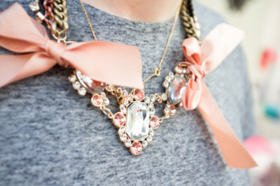 adorable, aw, cute, diamonds, fashion, girl, girly, necklace, pink, wow