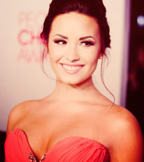 adorable, beautiful, cute, demi lovato, dress, hair, love the dress, perfect, photography, pink dress, pretty, smile