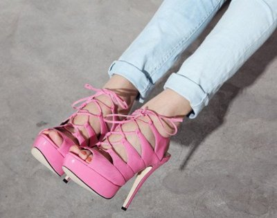 adorable, cute, fashion, girl, girly, heels, jeans, pink, shoes