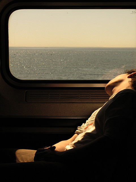 afternoon, alone, always, bus, car, dreamer, girl, guy, journey, paisagem, paradise, retro, sea, sleep, sleeping, train