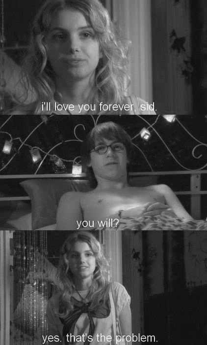 ainsworth, black and white, cassie, forever, hate, love, sid, skins, thing, things, wow sid