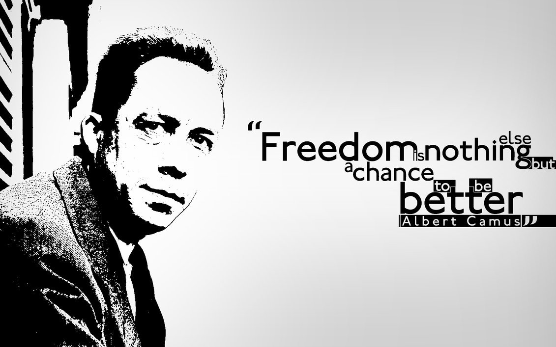 albert camus, better, black and white, chance