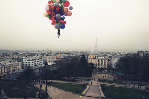 alone, balloons, beautiful, beauty