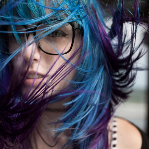alternative, blue, girl, hair
