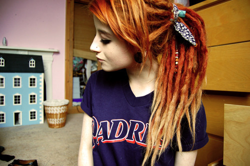 alternative, dreads, girl, hair