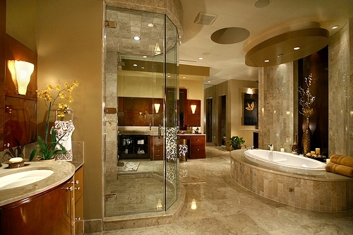 amazing, bathroom, beautiful, home - image #489716 on ...