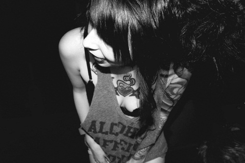 amazing, black and white, boy, cool, couple, cute, fashion, girl, hair, model, photography, pretty, punk, skinny, style, tattoo