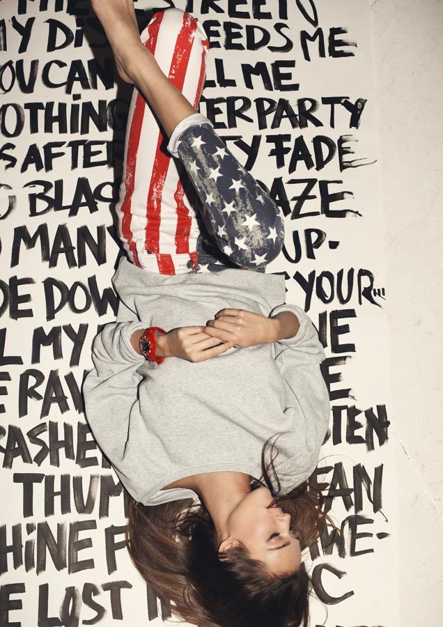 america, american flag, awesome, brunette