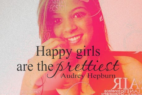 anacarolinasaid, audrey hepburn, cute, happy, quote, smile