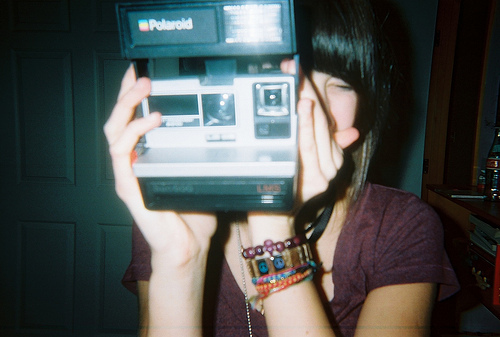 analog, camera, film, girl