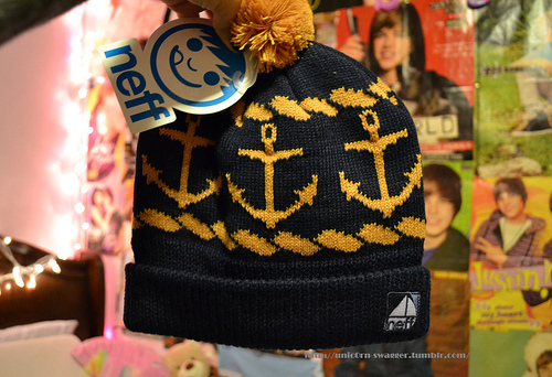 anchor, fashion, hat, justin bieber