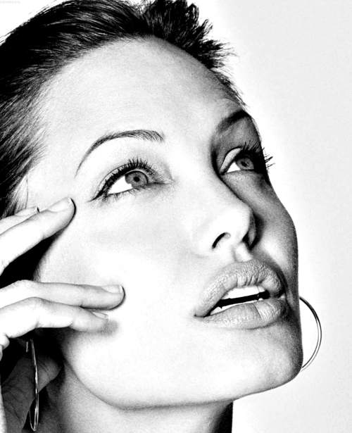 angelina jolie, actress, angelina, black and white