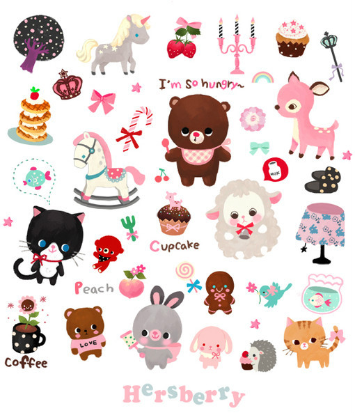 anime, bambi, cat, cupcake