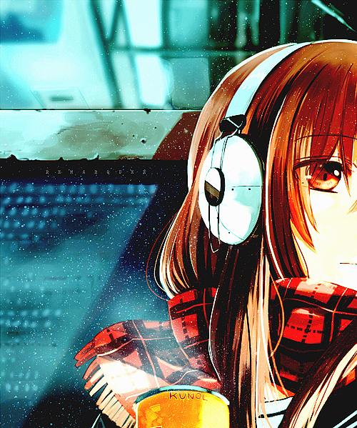 anime, girl, illustration, manga, music