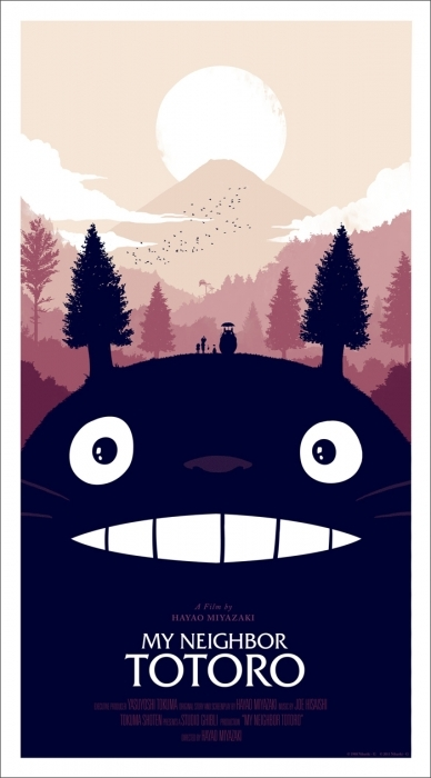 anime, illustration, totoro