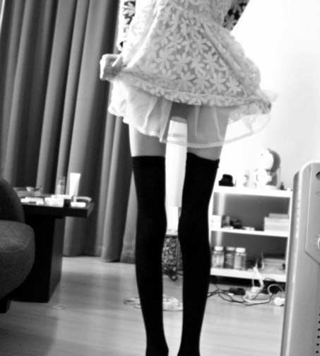 anorexia, beautiful, black&white, dress