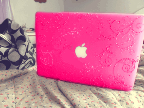 apple, apple laptop, computer, girly, laptop, mac, pink, sheep