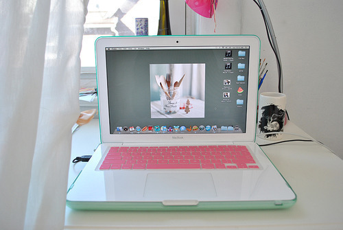 apple, computer, design, fashion, mac, photo, pink