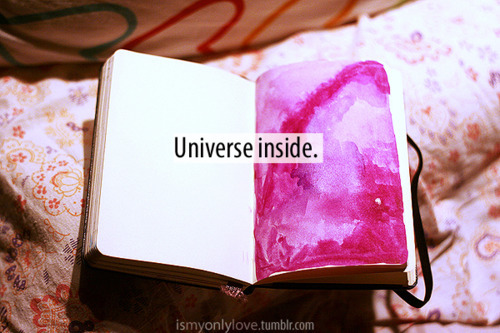 art, artist, awesome, color, creative, draw, inspiration, moleskine, paint, photo, pink, purple, quote, quotes, text, type, typo, typography, universe, violet