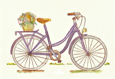 art, awesome, bicycle, cute, delicate, drawing, fairytale, girly, lovely, nice, pastel, pretty, vintage