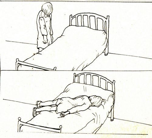 art, bed, comfort, comic, depression, fall, sad, sleep, tired, woman