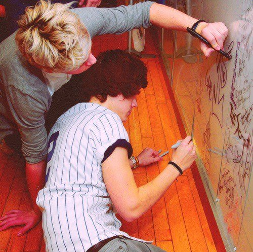 art, blond, drawing, friends, harry styles, house, ireland, irish, love, niall horan, one direction, painting, picture, red, sexy, smile