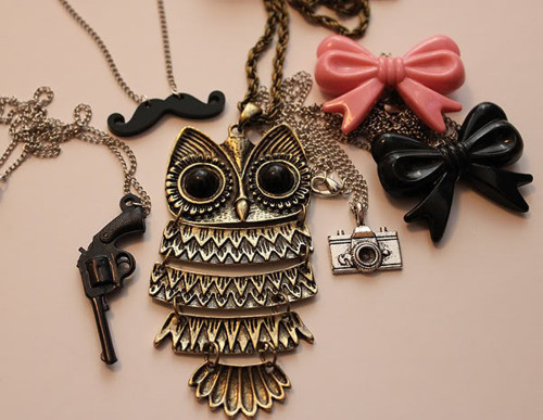 art, camera, cute, damn, girl, girly, gun, heart, jewelry, london, love, lovely, mustache, owl, photo, pretty, stuff, wow