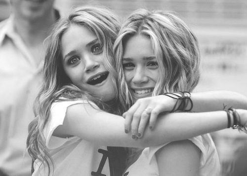 ashley olsen, black and white, cute, eyes, fashion, girl, girls, hair, happy, laugh, love, lovely, mary kate olsen, movie, olsen twins, photography, smile