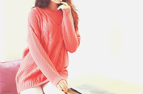 asian, cute, fashion, femenine, k-fashion, kfashion, knit, korean, model, photograph, pink, style, sweater, uljjang, ulzzang
