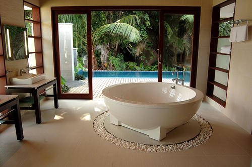 Awesome Bathroom Beautiful Bright Exterior Floor Fresh Green