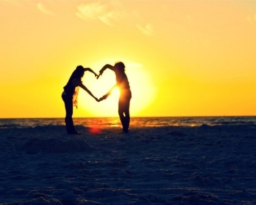 awesome, beach, couple, cute, girl and boy, heart, lovely, romantic, sea, sun, sundown, sunset, sunshine, sweet