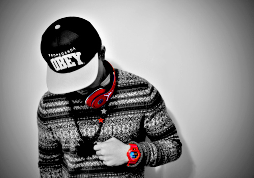 awesome, beats, clothing, cool, dope, epic, fashion, headphones, obey, photo, photograph, photography, red, style, swag, swagger