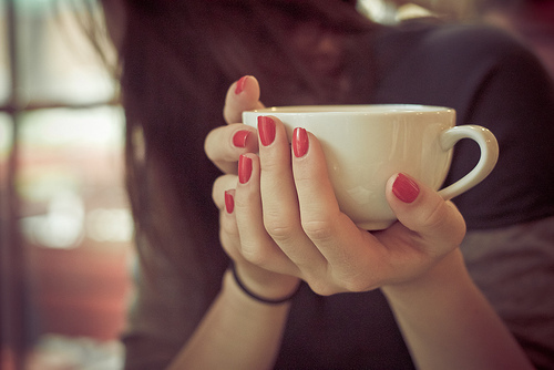 awesome, beautiful, cup, cute, fashion, girl, hands, nails, pretty, stuff, tea