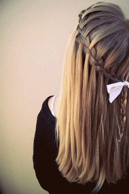awesome, blonde, bow tie, braid, cascade braids, hair, hairdressing, perfect, wonderful
