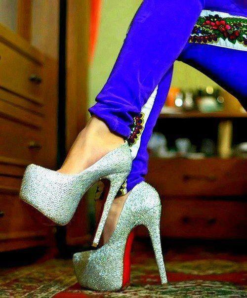 awesome, blue, colors, fashion, girl, glitter, heels, love, perfect, sexy